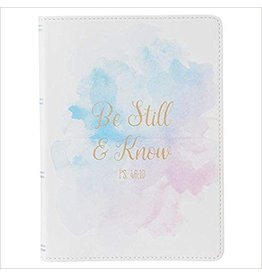 Christian Art and Gifts Journal - Be Still And Know, Flexcover, Watercolor Design
