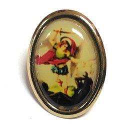 Jeweled Cross Company St. Michael Full Color Lapel Pin