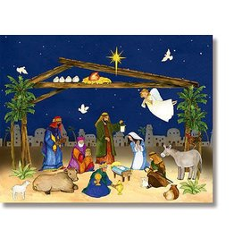 Ambrosiana Nativity Scene Come Let Us Adore Him Advent Calendar