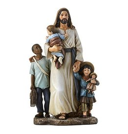 """Avalon Gallery 7"""" Welcome the Stranger Jesus Statue by Michael Adams"""