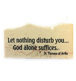 Holy Land Stone Let nothing disturb you - Promise Stone