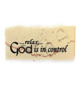 Holy Land Stone Relax...God is in Control - Promise Stone