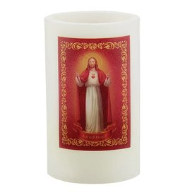 """Sacred Traditions 5"""" Sacred Heart Wax LED Candle"""
