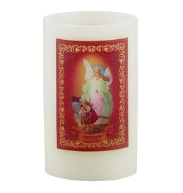 """Sacred Traditions 5"""" Guardian Angel Wax LED Candle"""