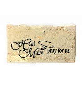 Holy Land Stone Hail Mary, pray for us - Promise Stone