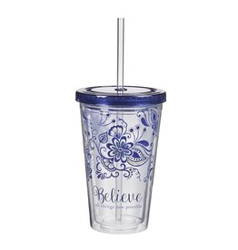 Christian Art and Gifts Plastic Tumbler: Believe all Things are Possible
