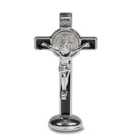 "Sacred Traditions 3"" St. Benedict Enameled Standing Crucifix"