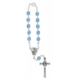 McVan Blue Our Lady of Lourdes Auto Rosary