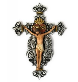 "Avalon Gallery 10"" Calvary Sacred Heart Crucifix"