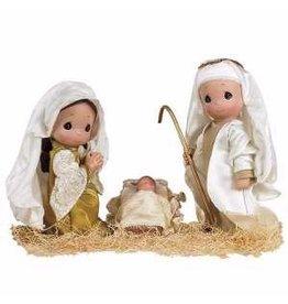 """Precious Moments 9"""" Nativity Doll Set With Mary, Joseph, & Jesus"""
