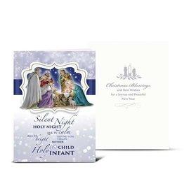 WJ Hirten Silent Night... Nativity with Magi Christmas Card