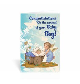 WJ Hirten Congratulations On The Arrival of Your Baby Boy! Greeting Card