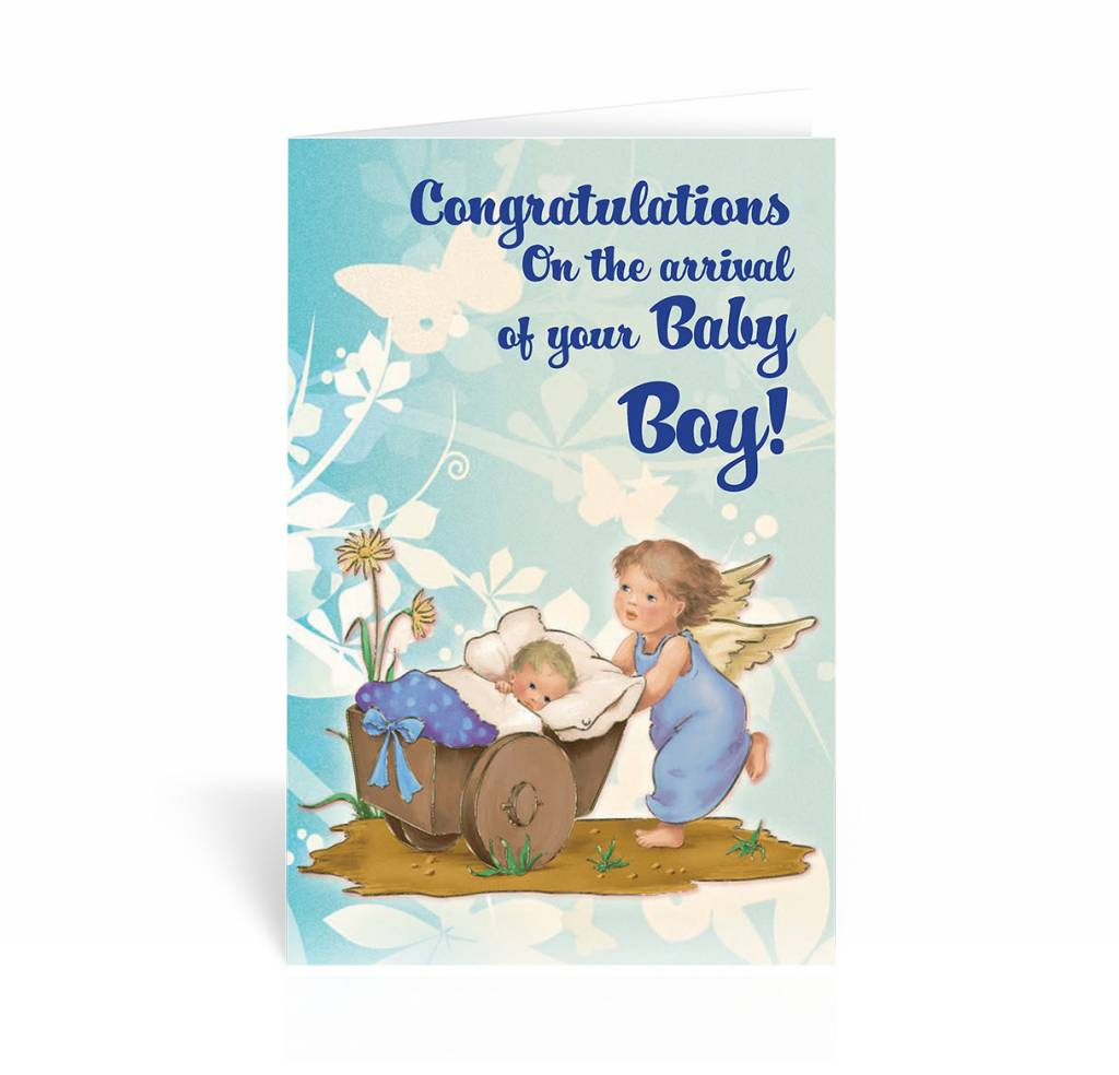 Congratulations on the arrival of your baby boy greeting card wj hirten congratulations on the arrival of your baby boy greeting card m4hsunfo