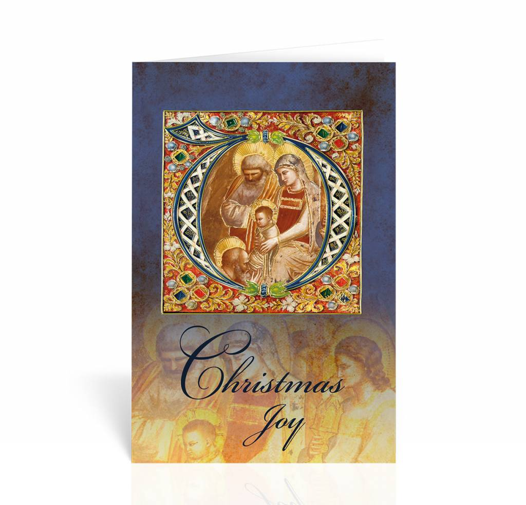 Christmas Joy Nativity Icon Christmas Card Queen Of Angels