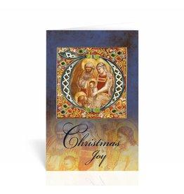 "WJ Hirten Box of 10 ""Christmas Joy"" Nativity Icon Christmas Cards"