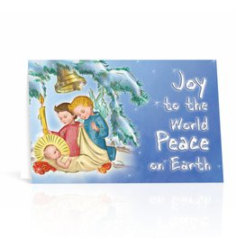 WJ Hirten Box of 10 Joy To The World Peace On Earth Christmas Cards