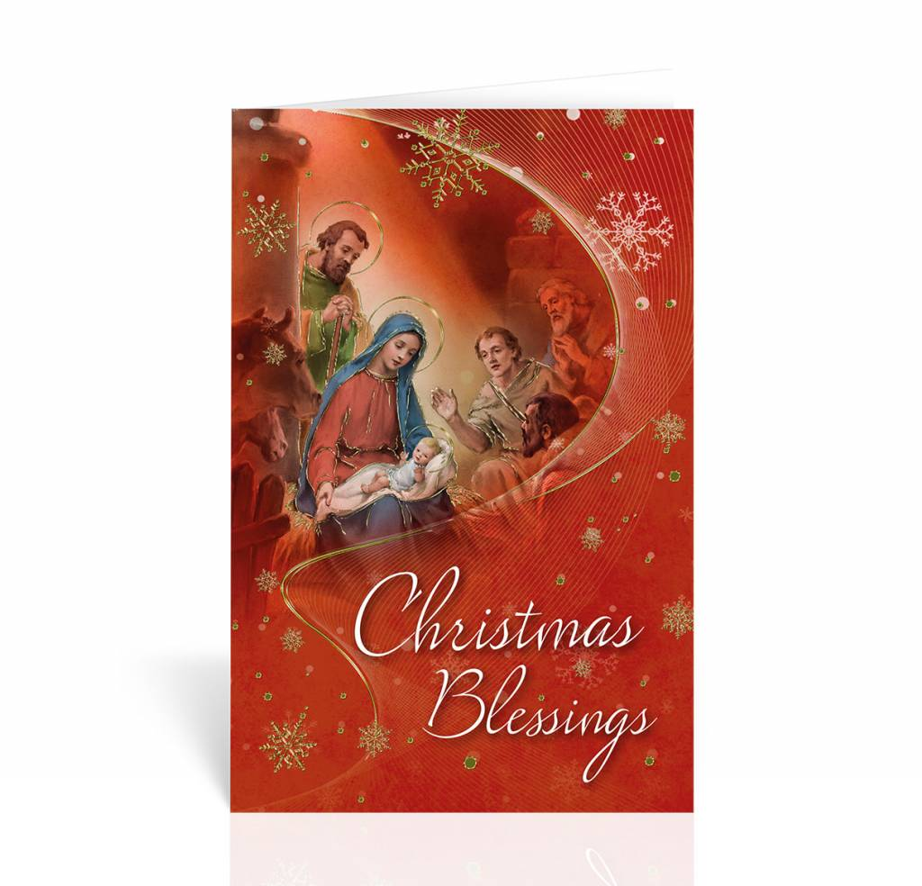 Christmas Blessings Nativity Christmas Card Queen Of Angels