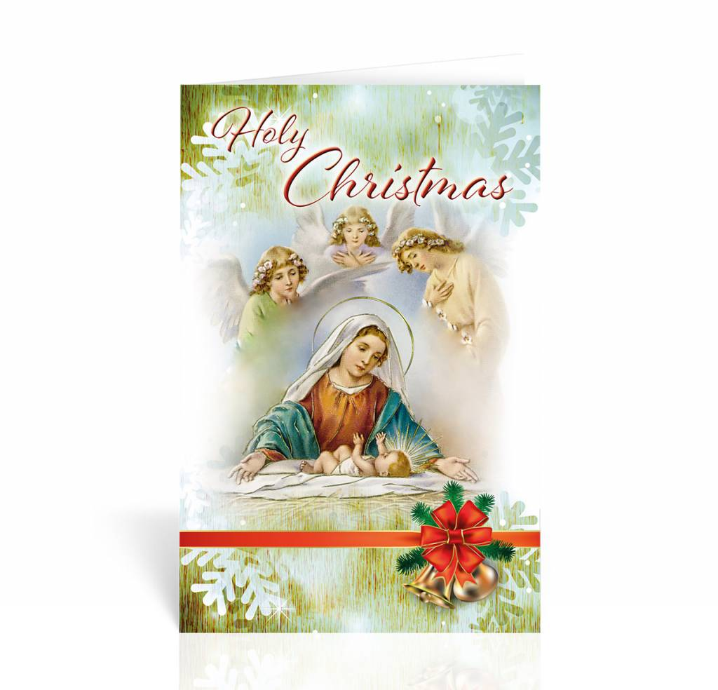 Holy christmas nativity christmas card queen of angels catholic store wj hirten holy christmas nativity christmas card m4hsunfo