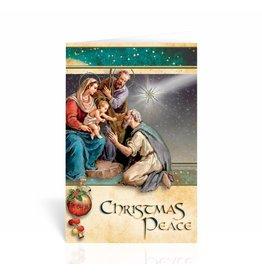 WJ Hirten Christmas Peace Nativity Christmas Card
