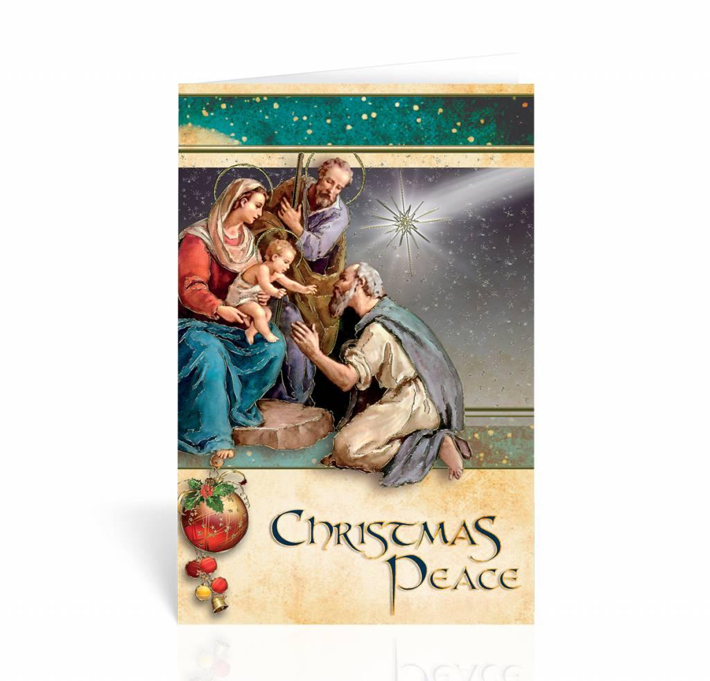 wj hirten box of 10 christmas peace nativity christmas cards - Nativity Christmas Cards