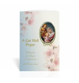 "WJ Hirten ""Thinking Of You And Wishing You A Speedy Recovery"" Holy Family Get Well Soon Card"