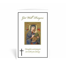 "WJ Hirten ""Get Well Prayers"" Our Lady of Perpetual Help Get Well Soon Card"
