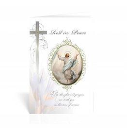 "WJ Hirten ""Rest in Peace"" Resurrected Christ Sympathy Card"