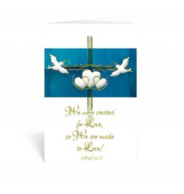"WJ Hirten ""Therefore what God has joined together..."" Mark 10:9 Wedding Greeting Card"