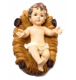 """Malco 5"""" Resin Infant Jesus in Crib Statue"""