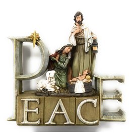 """Napco """"Peace"""" Holy Family Nativity Figurine"""