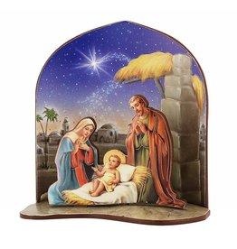 "WJ Hirten 3"" Nativity Scene with Backdrop"