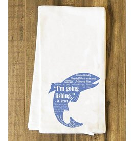 Nelson Fine Art Fishing Quotes Tea Towel