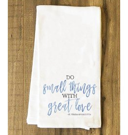 Nelson Fine Art Do Small Things Tea Towel