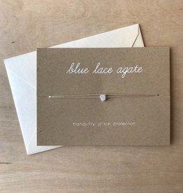 Yellow House Handmade Card- Crystal, Blue Agate