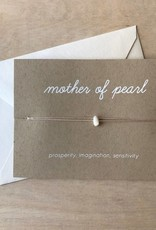 Yellow House Handmade Card- Crystal, Mother Of Pearl