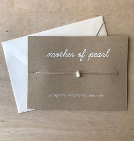 Card- Crystal, Mother Of Pearl