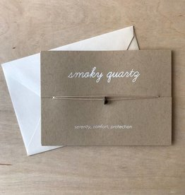 Yellow House Handmade Card- Crystal, Smoky Quartz
