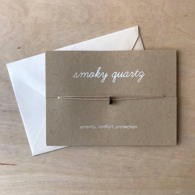 Card- Crystal, Smoky Quartz