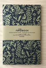Worthwile Paper Notebook- Metallic Nature Pattern