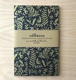 Worthwile Paper Notebook- Metallic Nature Pattern
