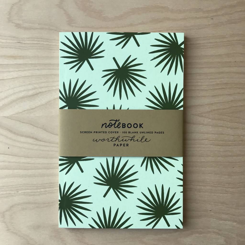 Worthwile Paper Notebook- Palm Leaf Pattern
