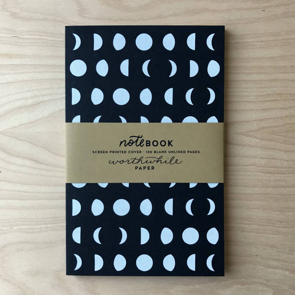 Worthwile Paper Notebook- Moon Pattern