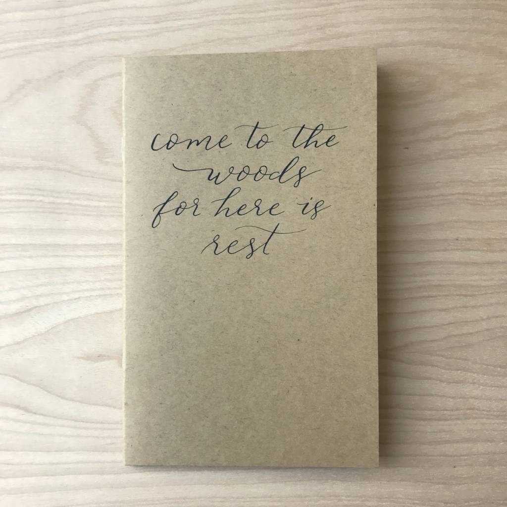 Sweetgrass Paper Company Journal- Caligraphy