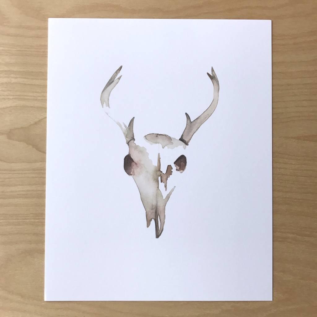Pen+Pillar Print - Deer Skull