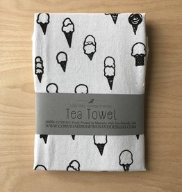 Corvidae Tea Towel- Ice Cream