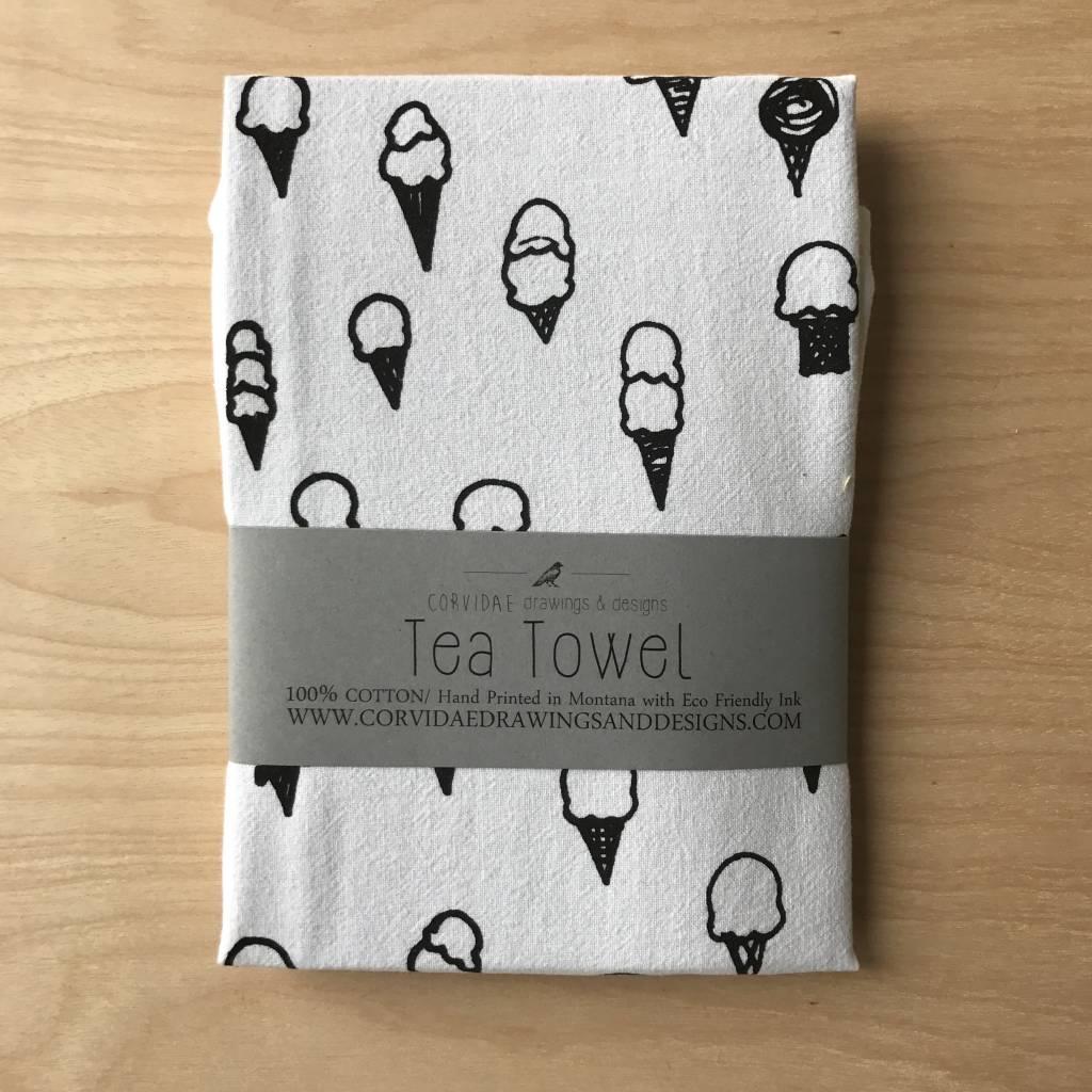 Corvidae Tea Towel- Ice Cream