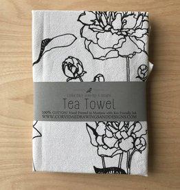 Corvidae Tea Towel- Peonies