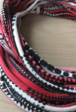 Scarf- Red Multi