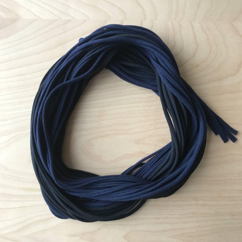 Necklush Scarf- Blue And Black