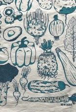 Tea Towel- Veggies, Blue